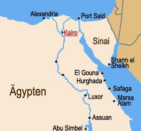 ägypten karte urlaubsorte Ägypten Reiseinformationen   Informationen über Ägypten ägypten karte urlaubsorte